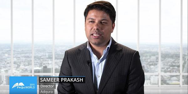 Sameer Prakash talking about Pega Decisioning, Pegaworld 2015